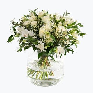 Kondolanse - Klassisk hvit hilsen - stor